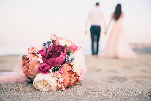 Close-Up Of Flowers On Beach