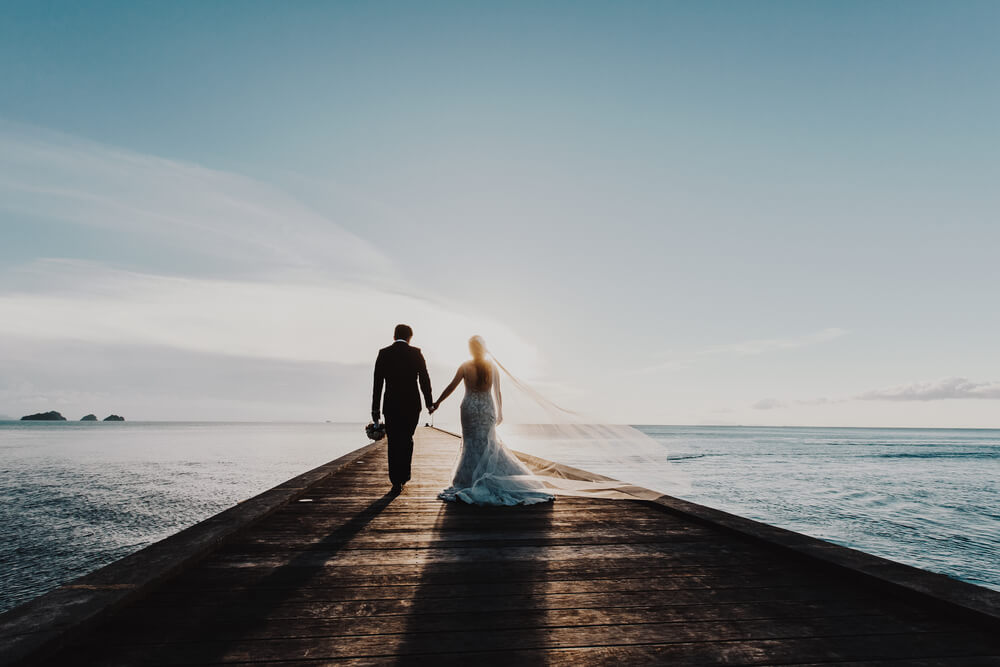 What should you look at when you're budgeting out your wedding.