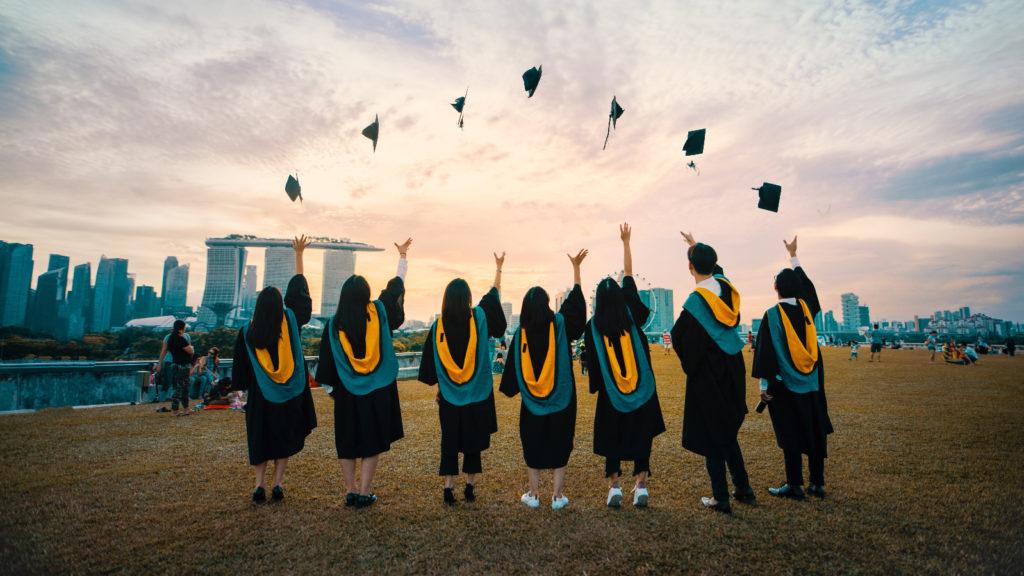 students graduating college