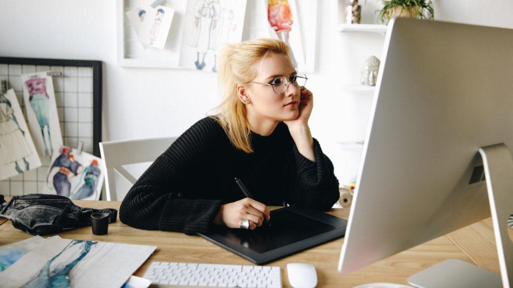 freelancer on computer